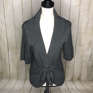 Worthington Front Tie Open Front Cardigan Sweater
